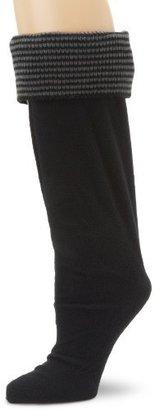 Betsey Johnson Women's Thin Stripe Cuff Knee Length Welly Sock