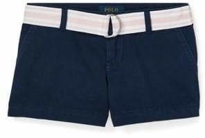 Ralph Lauren Childrenswear Little Girl's Belted Chino Shorts
