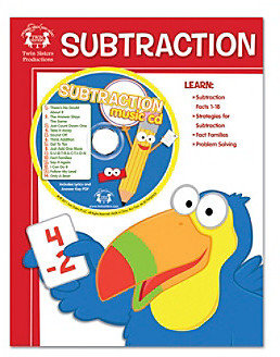 Twin Sisters Subtraction 48-pg. Workbook and Music CD