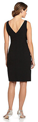 Adrianna Papell Colorblock Sideburst Dress