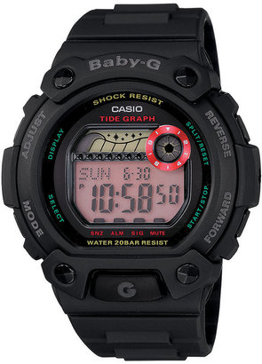 Baby-G Watch, Women's Digital Tide Graph Black Resin Strap 42x45mm BLX102-1