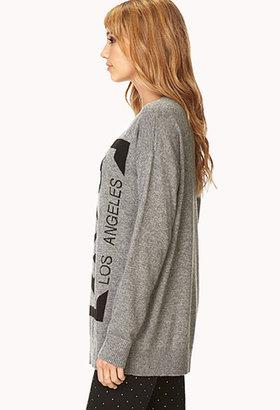 Forever 21 Longline Boy Los Angeles Sweater