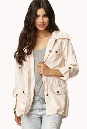Forever 21 Contemporary Hooded Utility Jacket