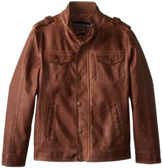 Urban Republic Big Boys' Garment Dyed Faux Leather 5 Pocket Jacket