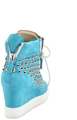 Giuseppe Zanotti Spike Suede Wedge Sneakers