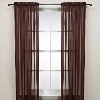 Bed Bath & Beyond Cocoa Rod Pocket Sheer Window Curtain Panel