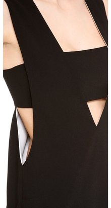 Alexander Wang Low V Dress with Bandeau