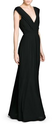 MANGO Outlet Wrap Neckline Gown