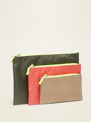 Old Navy Zip Pouch Bag 3-Pack Set for Women