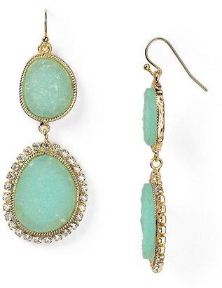 RJ Graziano Drusy Double Drop Linear Earrings