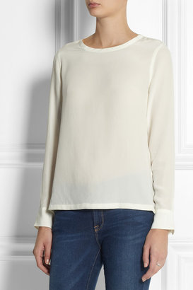 Equipment Liam washed-silk top