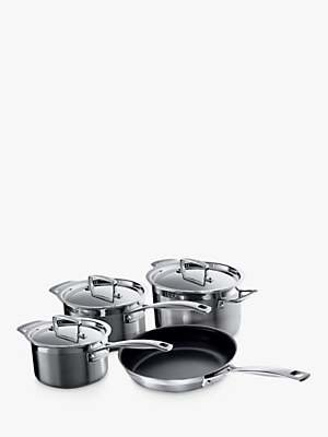 Le Creuset 3-Ply Stainless Steel Pan Set, 4 Pieces