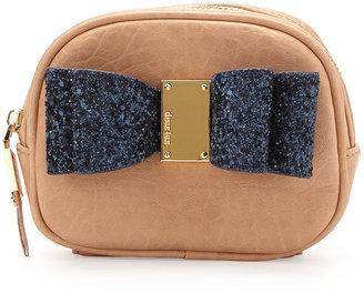Deux Lux Joy Bow Cosmetic Pouch, Peach