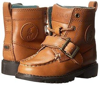 Polo Ralph Lauren Kids Ranger Hi II (Toddler) (Tan Burnished Leather) Boys Shoes
