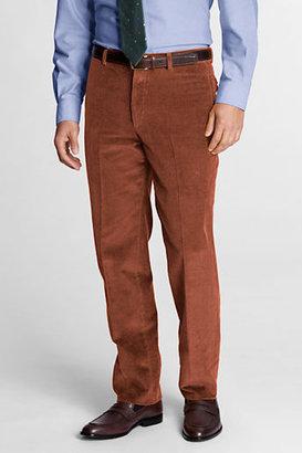Lands' End Men's Regular Plain Front Tailored Fit 10-wale Corduroy Trousers