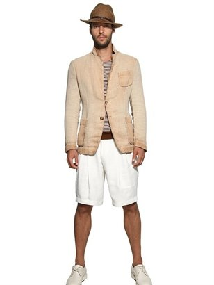 Giorgio Armani Ramie Blend Shorts