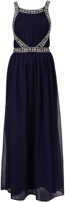 Topshop Embellished Panel Maxi Dress