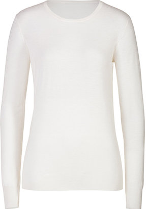 Joseph Cashmere Pullover with Elbow Patches
