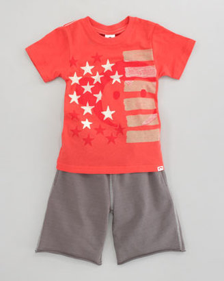Appaman American Monkey Tee, Washed Red