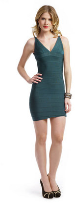 Herve Leger Leaf Him Behind Dress