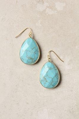 Anthropologie Gold Rung Earrings