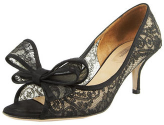 Valentino Couture Lace Bow Pump