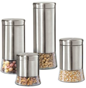 Oggi glass & stainless steel canisters