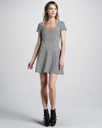 Cut25 Striped Flared Dress
