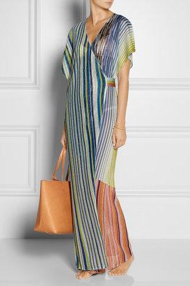Missoni Metallic fine-knit wrap kaftan