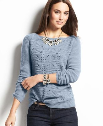 Ann Taylor Tall Wool Cashmere Blend Cable Sweater