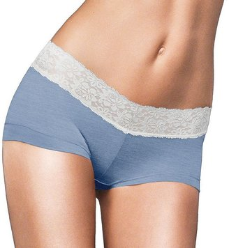 Maidenform Cotton Dream Lace-Trim Boyshorts 40859 - Women's $11.50 thestylecure.com