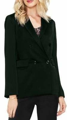 Vince Camuto Gilded Rose Satin Double-Breasted Blazer
