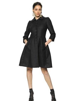 Dolce & Gabbana Stretch Diagonal Wool Coat