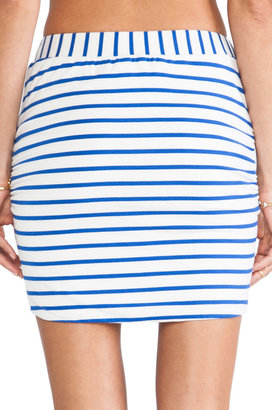 harlyn Stipped Wrap Skirt