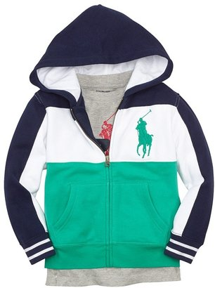 Ralph Lauren Colorblock Hoodie (Toddler Boys)