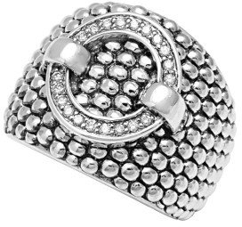 Women's Lagos 'Enso' Diamond Statement Ring $950 thestylecure.com
