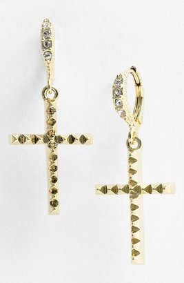 Givenchy Cross Drop Earrings