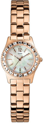 GUESS Watch, Women's Rose Gold-Tone Stainless Steel Bracelet 38mm U0025L3