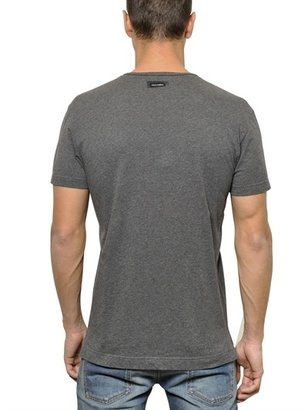 Dolce & Gabbana Cotton Jersey Henley T-Shirt