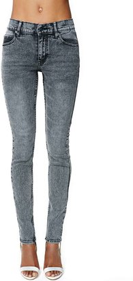 Nasty Gal Cheap Monday Tight Skinny Jeans - Black Snow