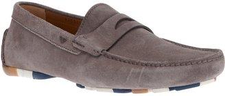 Emporio Armani leather loafer