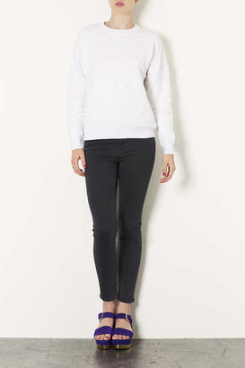 Topshop Tall Geo Quilted Sweat