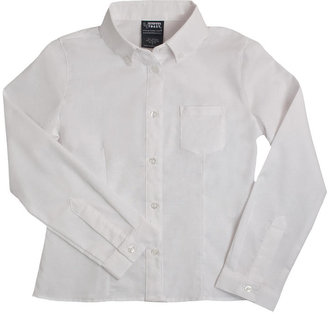 D+art's French Toast Long Sleeve Oxford Blouse with Darts - White ( Size 18)