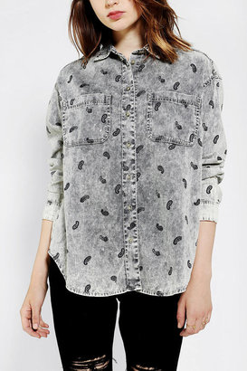 BDG Oversized Corduroy Button-Down Shirt