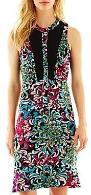 Nicole Miller nicole by Contrast Print Dress