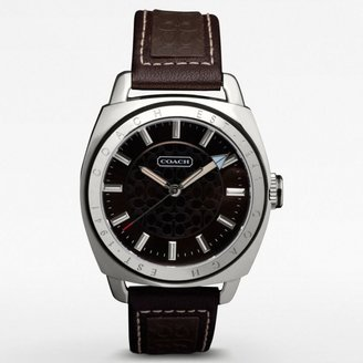 Coach Varick Signature Strap Watch
