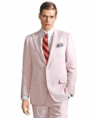 Brooks Brothers The Great Gatsby Collection Pink Stripe Linen Jacket
