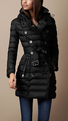 Burberry Mid-Length Quilted Trench Coat