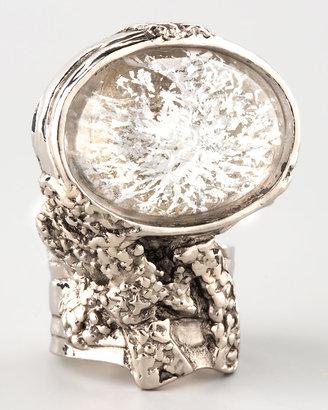 Yves Saint Laurent Silvertone Arty Ring, Ice