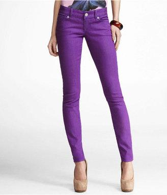 Express Zelda Colored Jean Legging-Bright Purple